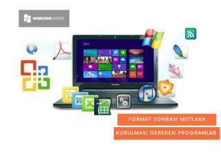 Format Sonrası Kurulması Gereken Programlar 2021