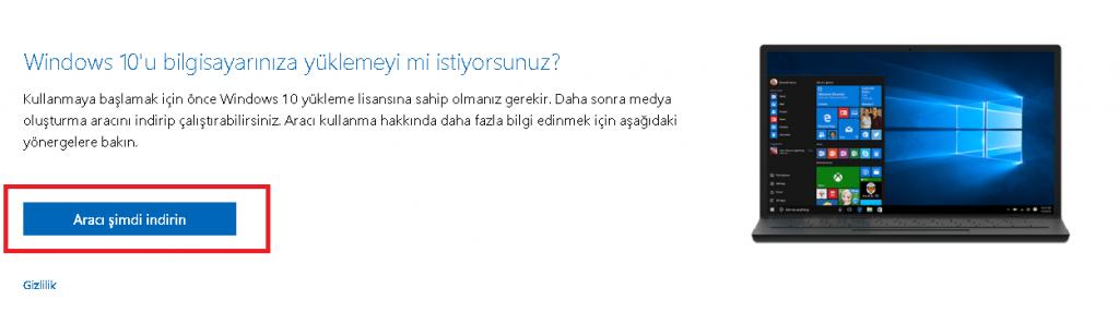 Windows İso Oluşturma Aracı