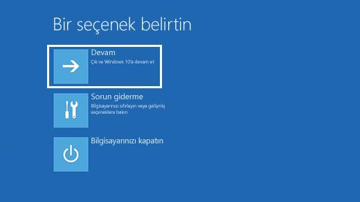 Windows 10 Bir Seçenek Belirleyin