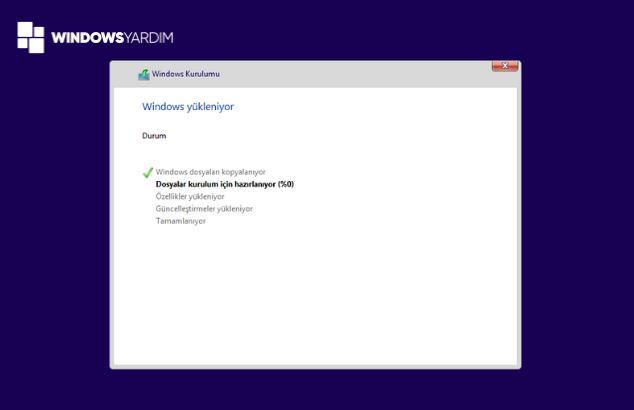 Windows 10 Format Dosyalarının Yüklenmesi