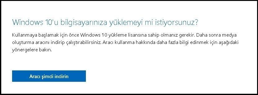 Windows 10 iso indirme