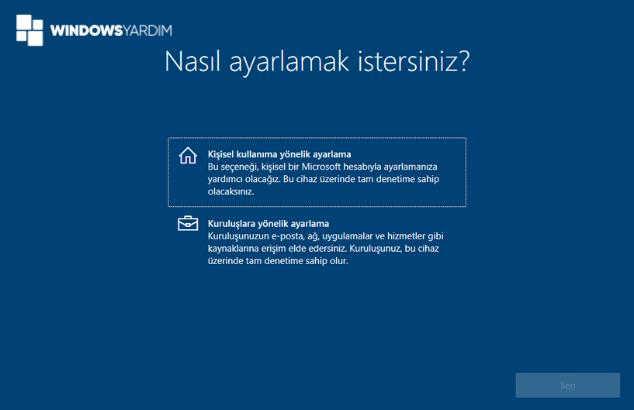 Windows 10 Kişisel Kullanım