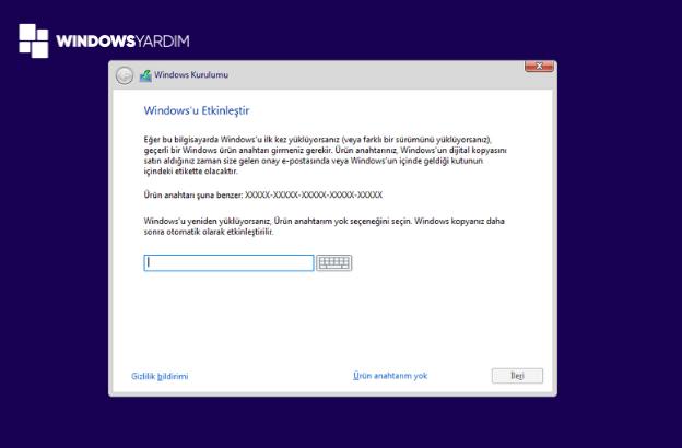 Windows 10 Kurarken Lisans Sorması
